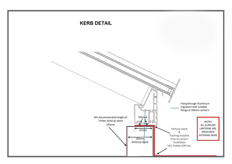 2000 x 1000 Atlas Aluminium Roof Lantern