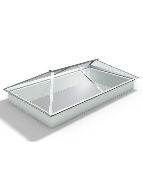 3500 x 1500 UltraSky White uPVC Roof Lantern