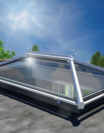 3500 x 1000 UltraSky White uPVC Roof Lantern