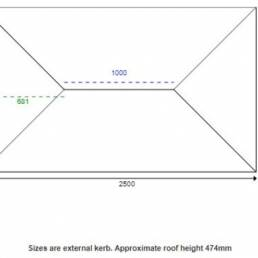 2500 X 1500mm Korniche Aluminium Roof Lantern