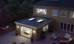 aluminium flat roof lights