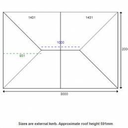 3000 X 2000mm Korniche Aluminium Roof Lantern